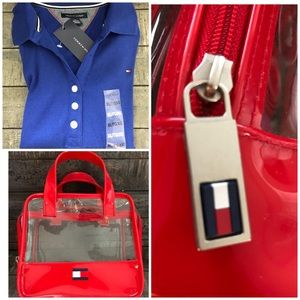 TOMMY HILFIGER  Blue Button 3/4 Sleeve Xl and Bag